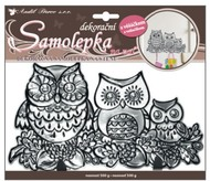Wall Sticker w/outline and Hook 25x16 cm, Black Owls