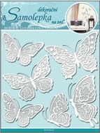 Wall Sticker 30,5x30,5 cm, Butterflies w/Lace wings