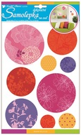 Wall Sticker 35x22 cm, Glitter Circles