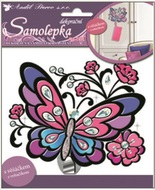 Wall Sticker with Hook 24x16 cm, Colourful Butterfly