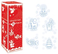 Snow Spray 150 ml with 10 stencils for Decoration