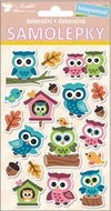 Stickers, Holographic Owls 25x14 cm
