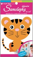 Wall Sticker with Hook 17x10 cm, Little Tiger