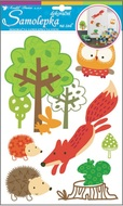 Wall Sticker 34x21 cm, Fox and Animals
