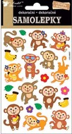 Wiggle-Eye Stickers 19x10 cm, Monkies