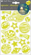 Glow in the dark Stickers 21x14 cm, Planets