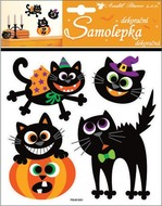 Puffy Stickers 23x18 cm, Halloween Cats