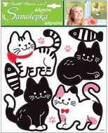 Stickers 32x26 cm, White and Black Cats