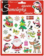 Stickers Funny Christmas 3D 18x17 cm