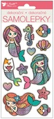 Stickers w/Glitter Mermaids 14 x 10 cm