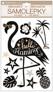 Sticker 36 x 21 cm, Pop up, Flamingo