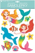Wall Stickers w/Glitter 27,5 x 42 cm, Mermaids