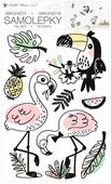 Wall Stickers 24 x 42 cm, Flamingos and Toucan