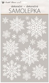Window glitter Sticker 30x50 cm, Snowflakes