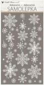 Window Glitter Sticker 25 x 31 cm, Snowflakes