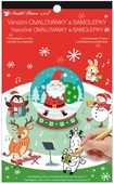 Colouring Book with Stickers 14 x 23 cm, Santa
