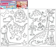 Wall Sticker for colouring 2 archs, 35x25,5 cm, Dinosaurus