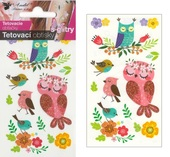Glitter Tattoo Stickers 10,5x6 cm - Owls