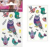 Glitter Tattoo Stickers 10,5x6 cm - Birdies
