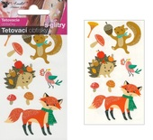 Glitter Tattoo Stickers 10,5x6 cm - Fox
