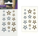 Metallic Tattoo Stickers 10,5x6 cm - Stars