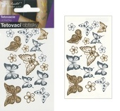 Metallic Tattoo Stickers 10,5x6 cm - Butterflies
