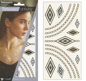 Metallic Tattoo Stickers 21x10,5 cm - Ornaments
