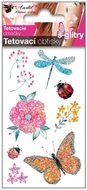 Glitter Tattoo Stickers 10,5x6 cm- Dragonfly