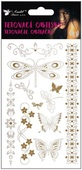 Metallic Tattoo Stickers 20x9 cm