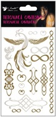 Metallic Tattoo Stickers 15x9 cm