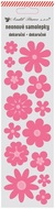 Neon Sticker Flowers, Pink, 7x28,5 cm