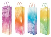 Gift Bag, universal design, size F, 36x12x9 cm for Bottle