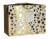 Folding Gift Bag w/Golden Dots 23x16x11 cm