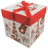 Foldable Gift Box with Ribbon L 21,5x21,5x21,5 cm