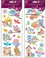 Stickers with Glitter 30x12 cm Owls