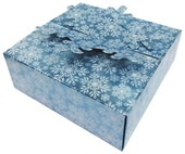 Folding Gift Box 15x15x5 cm, Blue