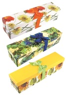 Foldable Gift Box with Ribbon for bottle, 34x9,5x9,5 cm