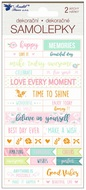 Stickers Scrapbooking 2 Sheets 17 x 9 cm
