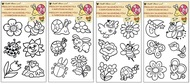 Stencils for Glass Deco w/raised outline, 30x21 cm, Flowers