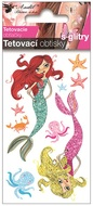 Glitter Tattoo Stickers 10,5x6 cm- Mermaids
