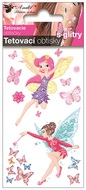 Glitter Tattoo Stickers 10,5x6 cm- Cute Fairies