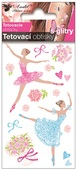 Glitter Tattoo Stickers 10,5x6 cm- Ballerinas