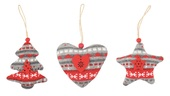 Hanging Knitted Decoration 9 cm