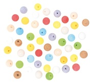 Balls 15 mm, 50 pcs, Paper Pulp, assorted colours