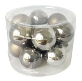 Glass Balls 2 cm, set of 12 pcs Grey