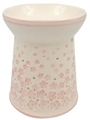 Porcelain Aroma Lamp 13,5 cm w/Pink Flowers