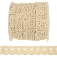 Decoration Lace String, 2 m, Beige