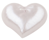 Pink Polished Heart-Shaped Candle 8 x 7 cm