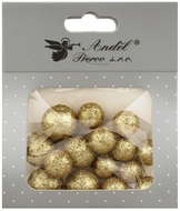Foam Balls 12x1,5 cm and 6x2cm, 18 pcs, Glitter White
