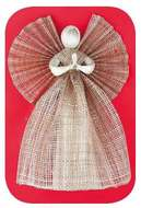 Angel with Wide Skirt  34 cm, Burlap